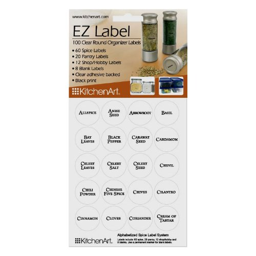 100 Round EZ Spice Labels - with Black Print