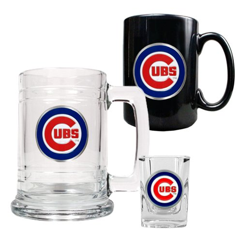 Chicago Cubs MLB Tankard, Mug & Shot Glass Gift Set