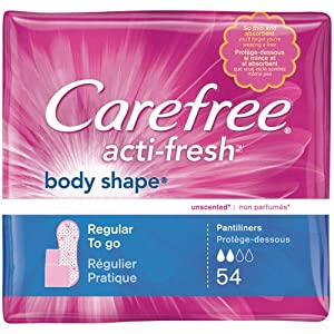 CAREFREE® ACTI-FRESH® Pantiliners Regular To Go Unscented 8/54ct