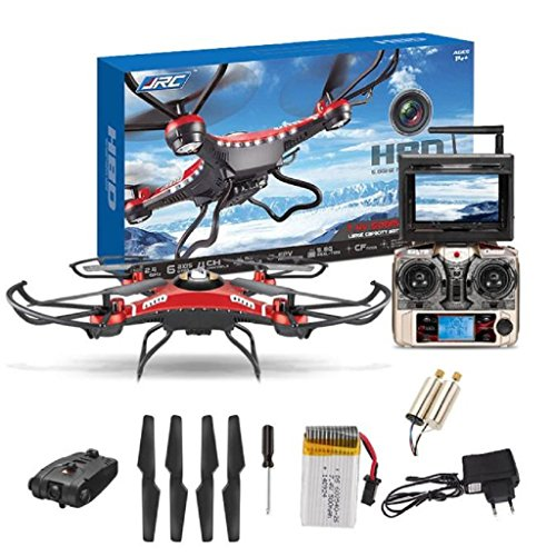 Womail JJRC H8D 6-Axis Gyro 5.8G FPV RC Quadcopter HD Camera With Monitor + 2PC Motor