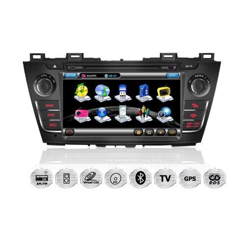 REALMEDIA Mazda 5 OEM Einbau Touchscreen Navigation Autoradio DVD Player MP3 MPE4 USB SD 3D GPS TV iPod USB MPEG2 Bluetooth Freisprecheinrichtung +++mit REALMEDIASHOP Garantie+++