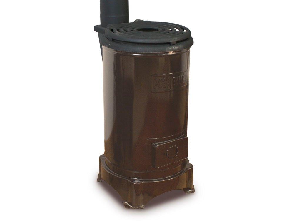 <p>Estufa de chapa de acero. Combustible: carb&oacute;n o le&ntilde;a</p>