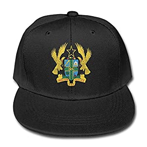 Coat Of Arms Of Ghana Pratical Black Boy Children Pure Baseball Cap