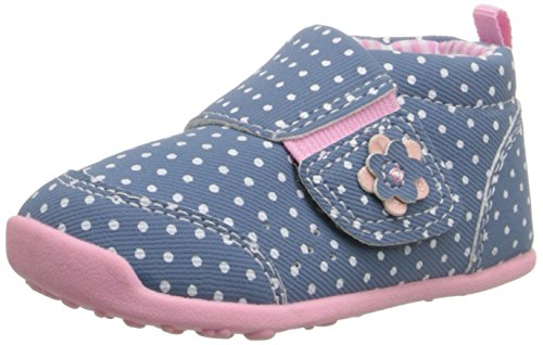 Carter's Every Step Alex W. Stage 3 Early Walker Shoe (Toddler),Blue/Light Pink,4.5 M US Toddler