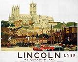 Lincoln Cathedral (old LNER ad.) fridge magnet