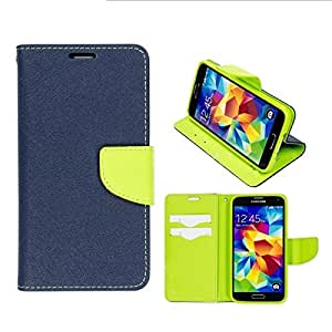 Online Street Wallet Style Flip Cover For htc 816 - (Royal Blue)