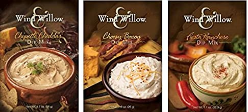 Wind amp Willow Dip Mix Variety Pack - Cheesy Bacon Chipotle Cheddar and Fiesta Ranchero