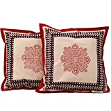 Chhipaprints Cushion Covers Red Chokda Set Of 2