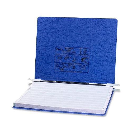 ACCO PRESSTEX Hanging Data Binder with Storage Hooks, 14.88 x 11 Inch Sheet Size, Unburst Sheets, 6 Inch Capacity, Dark Blue (A7054073)