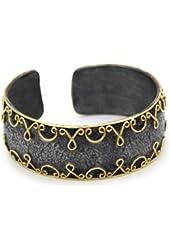 "Stella Flame ""Alhambra"" Narrow Cuff Bracelet"