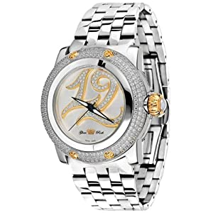 Glam Rock Women's GR40405 Palm Beach Collection Diamond Accented Stainless Steel Watch