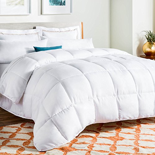 LINENSPA All-Season White Down Alternative Quilted Comforter with Corner Duvet Tabs - King Size (Allergy Duvet Cover King compare prices)
