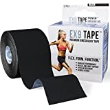 Best Kinesiology Tape With FREE Taping Guide - EX9 Increases Performance, Reduces Fatigue And Helps You Recover Faster From Sports and Athletic Based Injuries