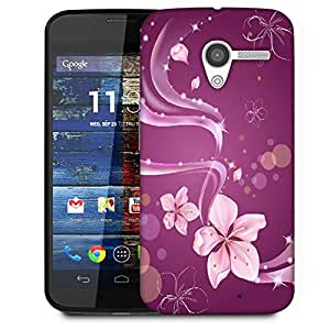 Snoogg Abstract Flower Designer Protective Phone Back Case Cover For Moto X / Motorola X