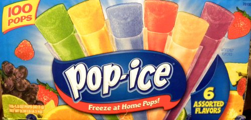 Pop Ice - 100 Units, 6 Assorted Flavors