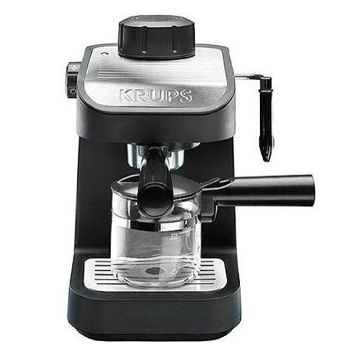Best Price KRUPS XP1020 Steam Espresso Machine with Glass Carafe, 4-Cup, Black