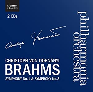 Brahms: Symphony No.1 in C minor, Symphony No.3 in F major (Philharmonia Orchestra/Dohnanyi)