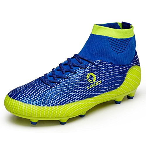 leoci-kids-football-boots-ag-spike-microfiber-cleats-teenagers-profession-athletics-high-top-55-uk-3