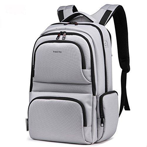 yacn-zaino-per-computer-portatile-in-nylon-3962-cm-156-da-viaggio-in-tela-grigio