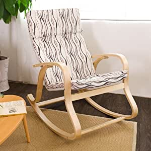 Sobuy comfortable relax rocking chair gliders - Rocking chair comfortable ...
