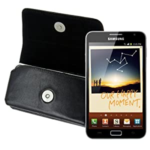 Original MTT ® / for Samsung Galaxy Note - N7000 / Genuine Leather Horizontal Case - with Belt Loop / Cover / Quality Slip Pouch / Soft Phone Bag (Luxurious - Premium Quality)