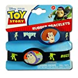 2pk Toy Story Buzz & Woody Rubber Bracelets