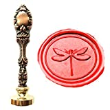 MNYR Vintage Dragonfly Insect Wax Seal Stamp Luxury Bronze Metal Peacock Decorative Wedding Invitations Gift Cards Paper Stationary Envelope Custom Logo Picture Monogram Wax Seal Sealing Stamp Set (Color: Red Brass)