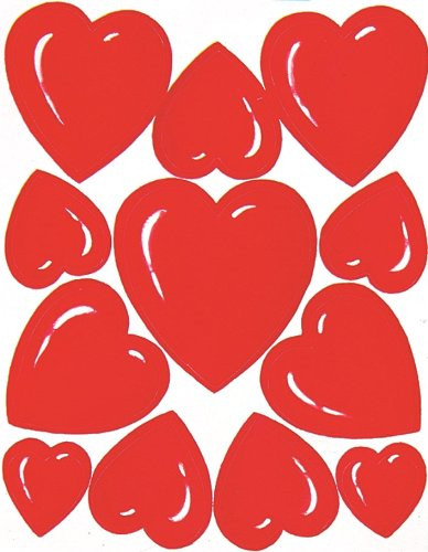 Eureka Valentine's Day Stickers, 36 Per Pack