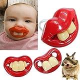 Tanzimarket - D�a Gagtooth Lip Chupetes Chupete mordedores para beb�s pez�n de la alta calidad de los Inocentes