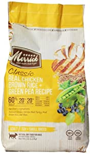 Merrick Classic 5-Pound Small Breed Real Chicken, Brown Rice and Green Pea Dog Food, 1 Bag