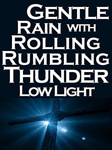 Gentle rain with rolling rumbling thunder sunlight peeking under cross