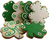 St. Patrick's Day Shamrock Decorated Cookies