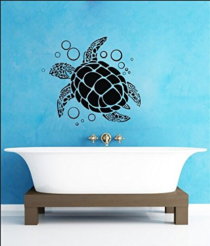 """Colorfulhall 29.92"""" X 27.55"""" Sea Turtle And Bubble Kids Room Wall Art Decals Stickers front-525731"""