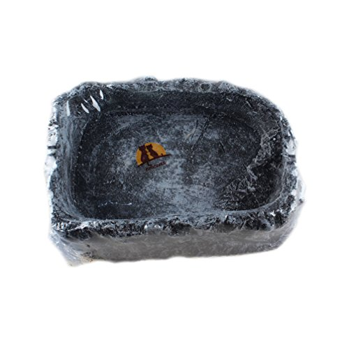 EmoursTM-Reptile-Nonporous-Resin-Water-and-Food-Feeding-Dish-Corner-Bowl-Small