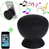 DiGiYes® Mini Mushroom Appearance Wireless Bluetooth Speaker For Laptop Smartphone Tablet As a Tablet Stand Phone Stand (Black)