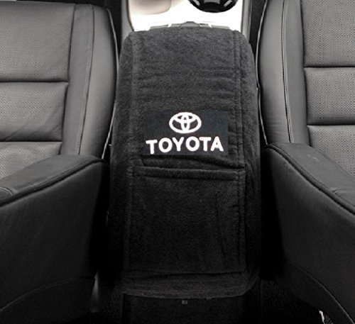 2007 - 2016 Toyota Camry Black Center Console Cover Custom Fit Officially Licensed Car interior with Toyota Embroidered Logo for Select Models (Center Console Lid Camry compare prices)
