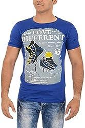 TUNE FASHION Men's Cotton T-Shirt_Blue_M