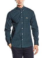 POLO CLUB Camisa Hombre Academy Trend (Verde Oscuro)