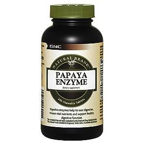 GNC Natural Brand Papaya Enzyme, Chewable Tablets, 240 ea