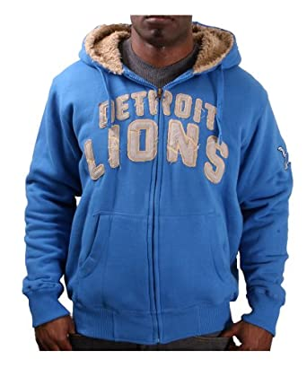 NFL Detroit Lions All Terrain Full Zip Hoodie - Light Blue by G-III Sports