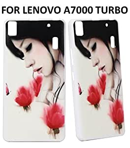 Jkobi(TM) Exclusive Rubberised Back Case Cover For LENOVO A7000 TURBO-Flower Girl