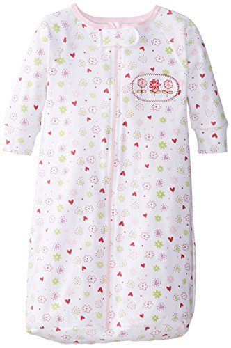 Spasilk Baby-Girls Newborn 100% Cotton Sleep Bag Sack, Pink Flower, O/S (21lbs)