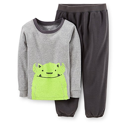 Carter's Baby Boys' 2 Piece Pant PJ Set (Baby) - Gray - 24 Months
