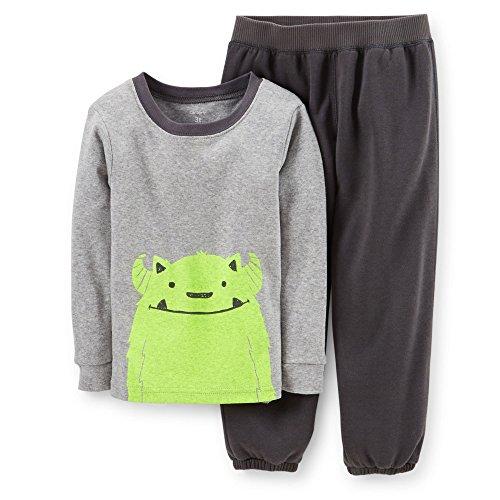 Carter's Baby Boys' 2 Piece Pant PJ Set (Baby) - Gray - 24 Months