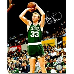 Autographed Larry Bird 8x10 Boston Celtics Photo by Main Line Autographs