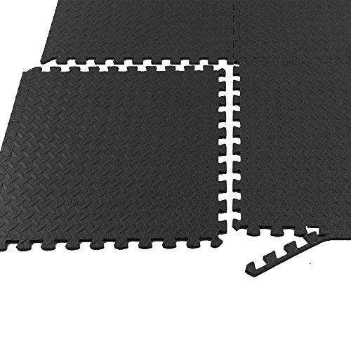 Tenive 216 Sq Ft Puzzle Exercise Mat EVA Foam Interlocking Tiles Protective Flooring Mat - 24