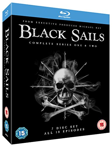 Black Sails (Complete Seasons 1 & 2) - 7-Disc Box Set ( Black Sails - Seasons One and Two (18 Episodes) ) [ Blu-Ray, Reg.A/B/C Import - United Kingdom ]
