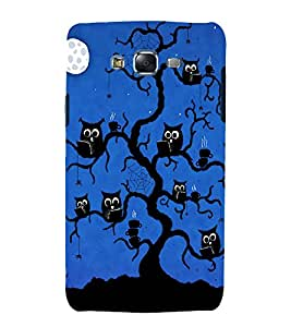printtech Scholar Owl Tree Back Case Cover for Samsung Galaxy Quattro i8552 / Samsung Galaxy Quattro Win i8552