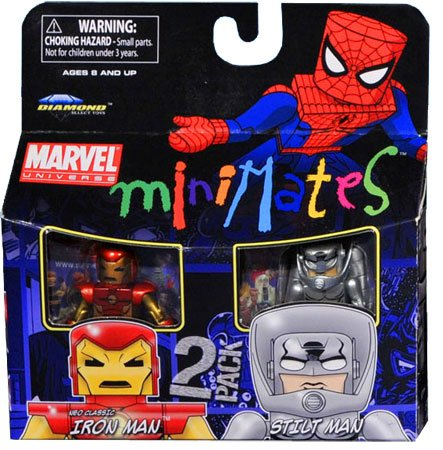 Picture of Art Asylum Marvel Minimates Series 36 Mini Figure 2Pack Neo Classic Iron Man Stilt Man (B003TP5A5I) (Iron Man Action Figures)