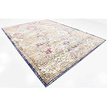 Premium Vintage Traditional & Modern Rugs Beige 9' x 12' FT St.Patrick Collection Area Rug